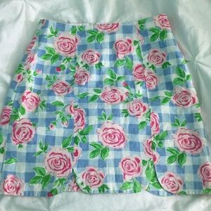 Lilly Pulitzer scalloped mini skirt